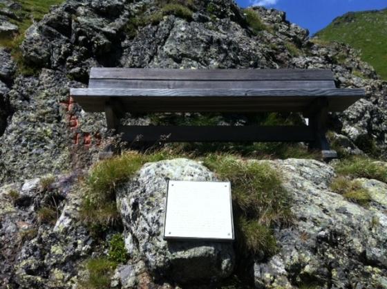 Una panchina da meditazione, chissà se Goethe era passato da qui
