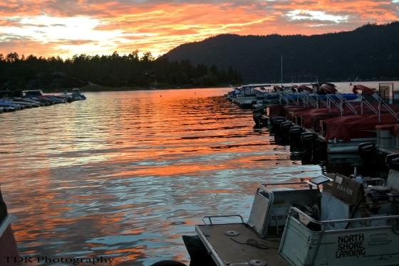Tramonto classico a Big Bear Lake