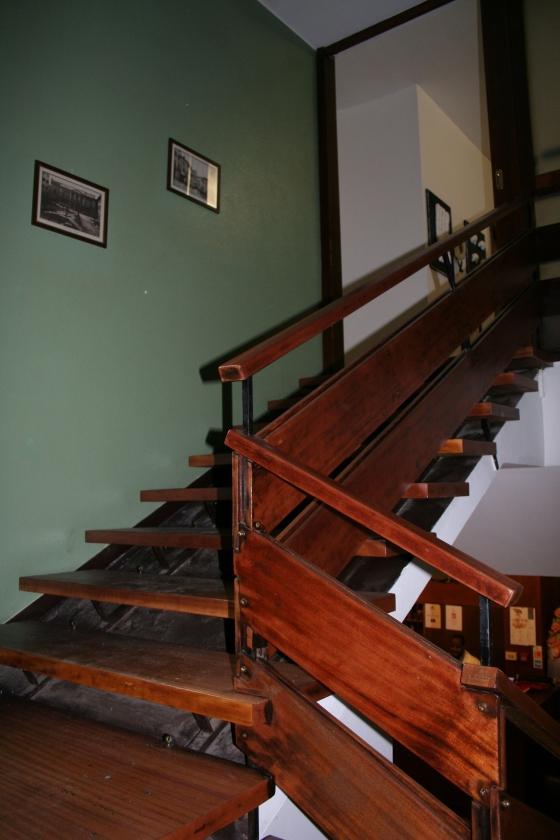 Uno degli elementi architettonici dell'albergo che ricorda l'adorato Frank Lloyd Wright