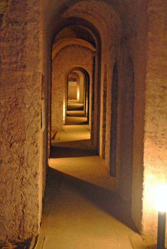 Una fuga delle grotte di Camerano. Foto TDR