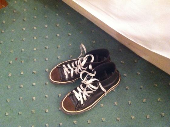 Le mie scarpe per la serata. Sarebbero piaciute a Fellini?